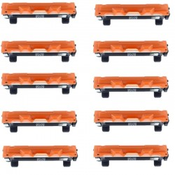 Pack de 10 Brother TN1050 cartouche d'encre compatible