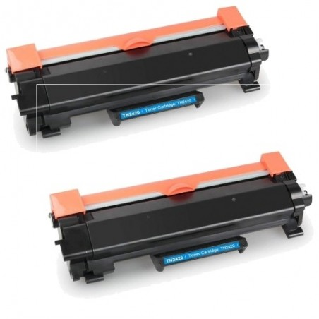Pack de 2 Brother TN2420 compatible