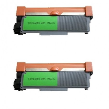 Pack de 2 Brother TN2320 compatible