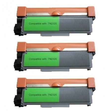 Pack de 3 Brother TN2320 compatible