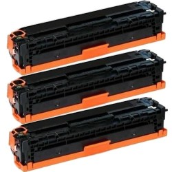 Pack de 3 HP 410A CF410A compatible