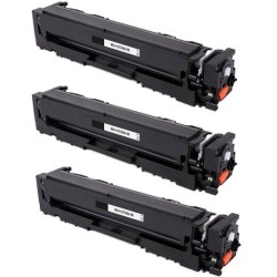 Pack de 3 HP 203A CF540A compatible