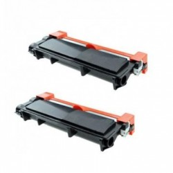 Pack de 2 Brother TN2410 compatible
