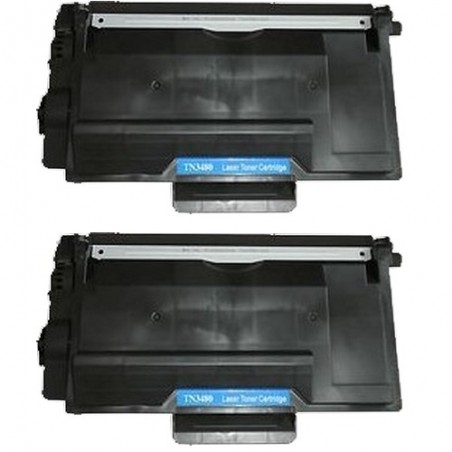 Pack de 2 Brother TN3480 compatible