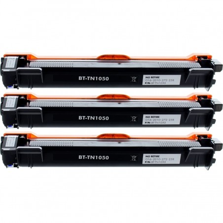 Pack de 3 Brother TN1050 compatible