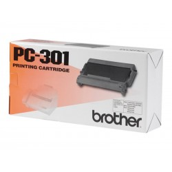 Brother PC301 - noire - original - ruban d'impression