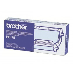 Brother PC75 - noire - original - ruban d'impression