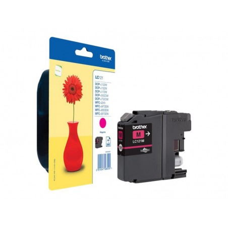 Brother LC121 - magenta - originale - cartouche d'encre