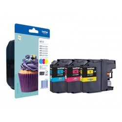Brother LC123 - Pack de 3 - cyan, magenta, jaune - original - cartouche d'encre